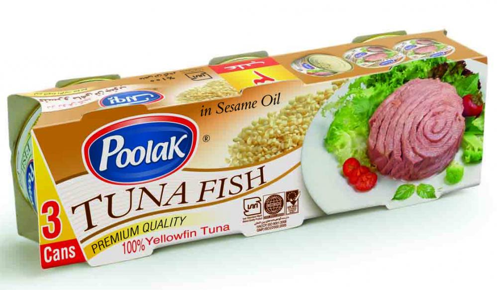 فروش  کنسرو ماهی 180 گرمی کنجد با سه کاور