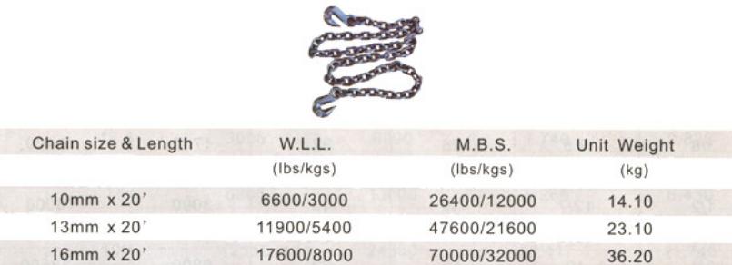 Black tempered binder chain G80