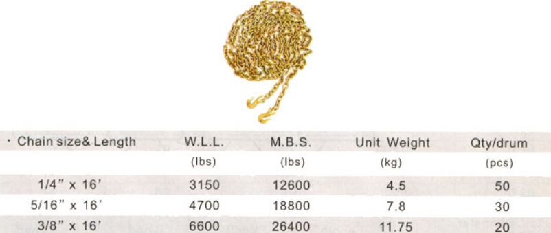 خرید کن Golden galvanized binder chain G70