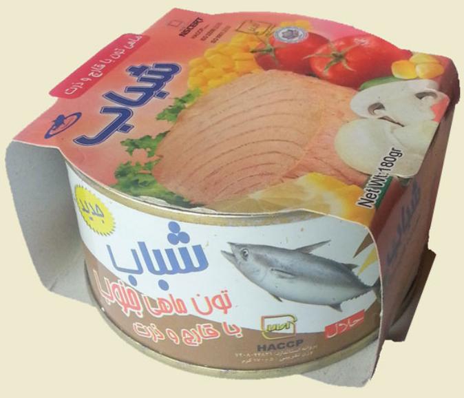 فروش  تون ماهی با قارچ و ذرت