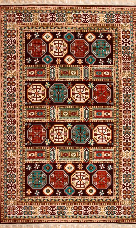 فروش  فرش ابریشم مصنوعی 14