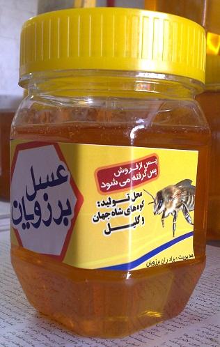 خرید کن عسل 500 گرمی برزویان 100% طبیعی و تنها عسل با ضمانت در بازار