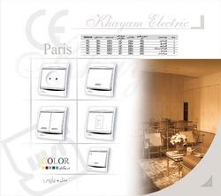 فروش  کلید و پریز مدل پاریس