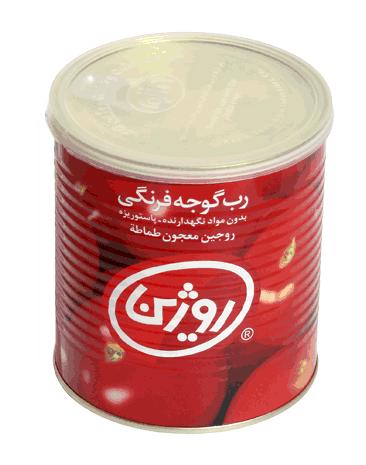 فروش  رب گوجه فرنگی یک کیلو گرمی روژین