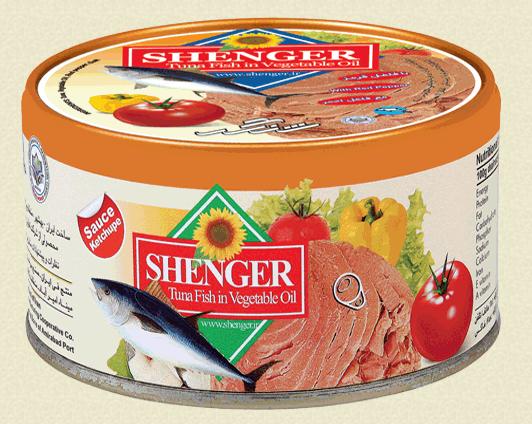 فروش  کنسرو ماهی تن در روغن مایع با سس گوجه فرنگی