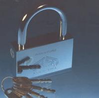 فروش  قفل آويز برنجی آبکاری شده TSP