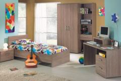 سرویس خواب طرح چوب قهوه ای نوجوان