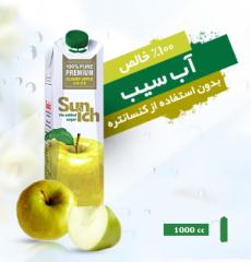 آب سیب صددرصد خالص بدون استفاده از کنستانتره