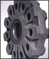 Hammer crusher with a movable plate