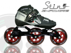اسکیت   Luigino - Sting Black 3 Wheel Skate Package