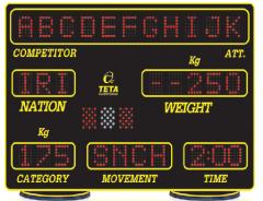 تابلوي تخصصي وزنه برداري دو رو   TS.WEI