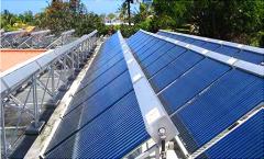 Solar energy water heating