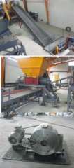 Equipment for recycling of polymeric materials