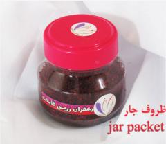 زعفران در بسته بندی ظروف جار