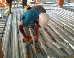 ساخت شبکه فلزی کف