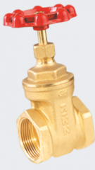 Wedge gate valves made of brass