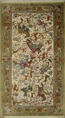 فرش دستی ایرانی طرح شکارگاه