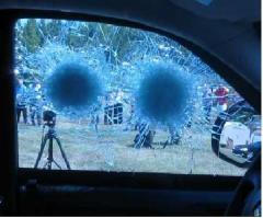 Laminate and bulletproof glass
