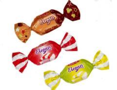تافی مغز دار تمشک و وانیل، لیمو و وانیل، شکلاتی