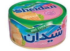 كنسرو ماهی تن در فاز آبی- تن رژيمی شيدان