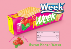 ویفر سوپر مانژ با طعم توت فرنگی