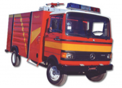 Automobiles of powder fire extinguishing