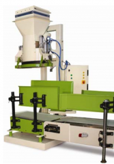 Machines for packing grain in bags