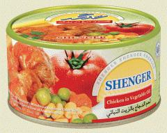 کنسرو مرغ در روغن مایع
