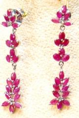 Ruby earings/silver 92.5