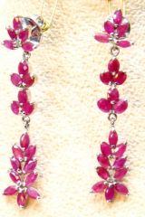 Ruby earings/silver 92.5