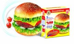 همبرگر گوشت 90 %