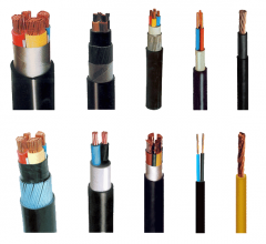 Armature cable and wire for electric mains