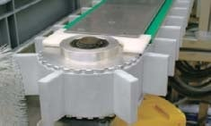 Conveyor belts made of polymer materials