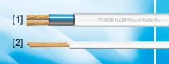 Flaxible flat PVC sheated cables