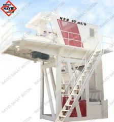 Quickly mounted concrete plants
