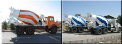 Concrete mixers of cyclic action