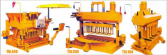 Equipment for the production of slag blocks