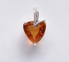 Heart corundum/pendent(10)