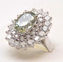 Silver ring/corundum12