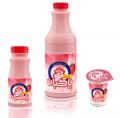 شیر توت فرنگی 1.5 درصد چربی