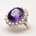 Silver ring/corundum7