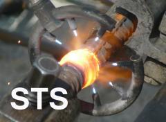 Rebar butt forge welding process