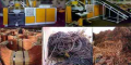 کارگاه بازیافت سیم وکابل ضایعاتی.خرید وفروش انواع ضایعات فلزات رنگی